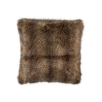 Chestnut Faux Fur Euro Pillow by Lili Alessandra $300.00