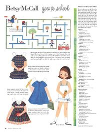 Betsy goes to school; Betsy McCall Paper Dolls 1958 Sep-Dec