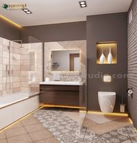 Contemporary Bathroom Decor Style Interior Design for Home by Architectural Animation Services, Qatar - Doha001.jpg