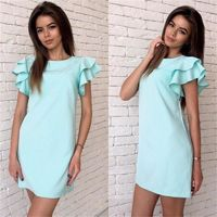 Fashion Butterfly Sleeve Straight Dress 2019 $15.99