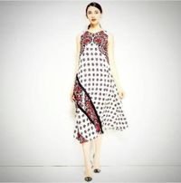 Ladies Casual O-Neck Sleeveless Pattern Print Dress $37.99