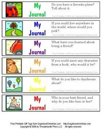 Writing prompts for kids! You could fold these up, put them in a jar, and use them as a writing center. (Especially great for students who always get done with their work early and who enjoy writing.)