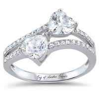 Asymmetrical 3.6TCW Heart Cut Russian Lab Diamond Engagement Anniversary Ring $139.00