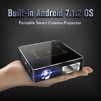 CSQ C9PLUS-X Android 7.1 1G 16G DLP Projector 5000 mAh Support 4k Wifi buletooth Portable Projector