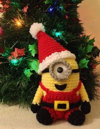 Ravelry: Santa Minion pattern by Jennifer Y. Wang �™� �™� ... #inspiration crochet #diy GB http://www.pinterest.com/gigibrazil/boards/