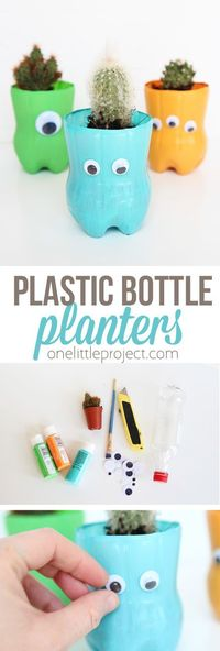 Hi Guys! It's Megan from Homemade Ginger again and I'm so excited to share this water bottle planter craft with you today. I love how these turned out and they