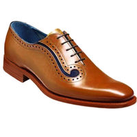 Johny Weber Handmade Two Tone Tan Leather Oxford Shoes