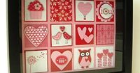 Valentine Shadow Box Collage - Easy to change out the collage for different times of the year and holidays