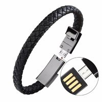 Leather Micro USB Charging Cable Bracelet $24.95