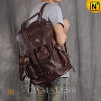 CWMALLS® Madrid Vintage Leather Flap Laptop Backpacks CW908000 [Patented Product, Global Free Shipping]