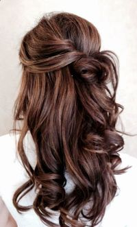 Chocolate brown with light brown neutral highlights.. If I had brown hair, this is what it would like. ,
