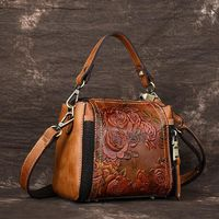 High Quality Natural Skin Luxury Ladies Cross Body Tote Purse Handbag Women Messenger Shoulder Top Handle Genuine Leather Bags $44.99