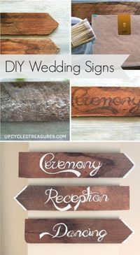 Are you looking to spruce up your wedding chairs? If so, check out these amazing DIY Wedding Chair Signs | MountainModernLife.com