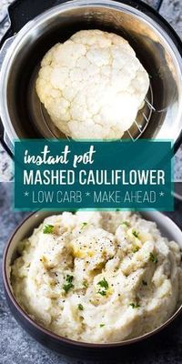 Creamy parmesan Instant Pot mashed cauliflower is a healthier, low carb alternative to mashed potatoes. Prep it ahead in the Instant Pot for an easy holiday sid