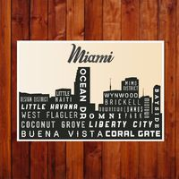 City Skyline, MIAMI, Typography Print, Giclee Art Poster, Wall Art, Home Decor, Modern Industrial Look, Black and White by GoingUnderground on Etsy https://www.etsy.com/listing/189830015/city-skyline-miami-typography-print