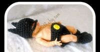 BATMAN Baby crochet set
