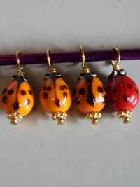 $6 This set of four (4) stitch markers will fit up to a size US 7