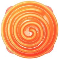 Outward Hound Slow Feeder Dog Bowl Fun Feeder Stop Bloat Bowl for Dogs by, Large, Orange $16.85