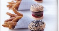 chocolate ice cream �€œburgers�€ with sweet churro �€œfries�€ by Peter Callahan. (bite size, these are adorable!)