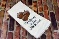 Kitchen Towel | Embroidered Kitchen Towel | Funny Kitchen Towel | Decorative Towel | Welcome to Nuthouse | Mother's Day Gift | Kitchen Humor $9.99