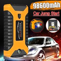 98600mAh 12V Car Jump Starter Multifunction Portable 4USB Power Bank Emergency Battery Booster Clamp 600A Auto Power Bank