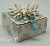 Stampin' Up! Stamping T! - Pop 'n Cuts Gift Box Blue side