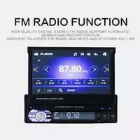 9601G 7 Inch 1Din for Wince Car Radio Stereo MP5 Player GPS FM WiFi USB DVR With 4LEDs Rearview Camera NA/ AU/ EU/ SA Map Card