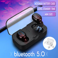T18S TWS Wireless Earbuds bluetooth 5.0 Earphone Mini Portable Stereo Headphone with Mic for iPhone Xiaomi Huawei