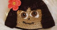 Crochet hat inspired by Dora the Explorer by ktmckinley on Etsy, $30.00
