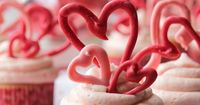 Cute Valentine's Cupcakes (with cherry frosting) - by A Spicy Perspective