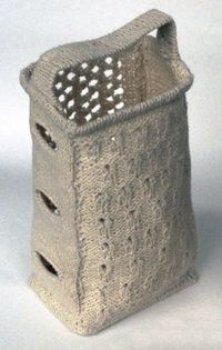 how cool! a knitted cheese grater