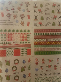 Pack of 2 Sheets of Christmas Nail Art Stickers. Assorted Xmas Designs. 24 Sets. 240 Stickers. £8.99