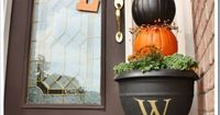 how-to outdoor pumpkin topiary for a planter