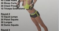 TRX Workout- looks like a fun spin. Reps versus time.