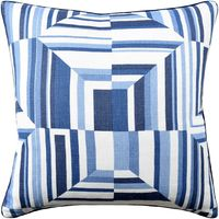 Cubism Navy Pillow by Ryan Studio $200.00
