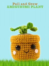 Pull and Grow Amigurumi Plant This sweet little potted plant is a fun and easy interactive toy to crochet! Pulling on the leaves makes him grow from a little seedling to a tall proud plant. With a new beginning each time he grows, he'll inspire smiles...