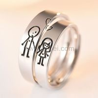 Cute Guy and Girl Promise Rings Set for Soulmates https://www.gullei.com/cute-guy-and-girl-promise-rings-set-for-soulmates.html