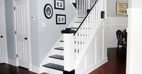 How fast can i rip our stair carpet up??--- Painted Wood Stair Remodel   Remodelaholic