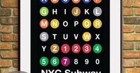 NYC ABC Lines -NYC inspired Subway Sign Art-11x14 Print. Buy 3 and get One Free. $15.95, via Etsy.