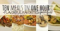 Craving flavor but short on time? This brand new 10 Meals in an Hour plan shows you exactly how to whip up TEN delicious home cooked meals in about an hour!