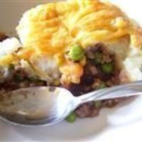 Easy Shepard's Pie - I'm going to sub Morning Star Farms Mealstarters for the beef, and veg stock for the beef stock.