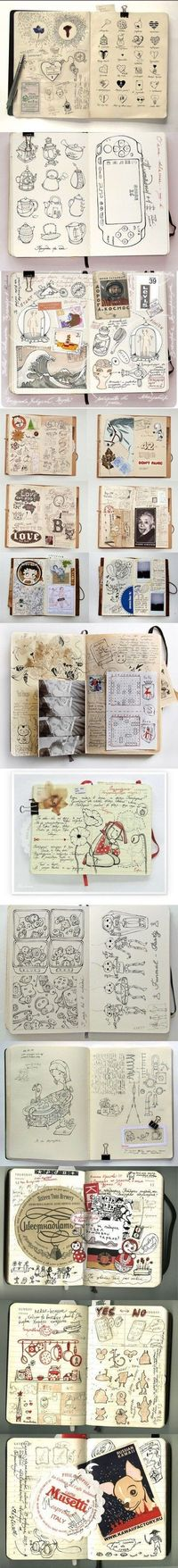Absolutely Fantastic style in this sketchbook. Not sure who the artist is. There's a link below...however it's a Chinese site, so I'm confused about whether or not this is an artist showcasing their work, or if this is a Chinese Pinterest styl...