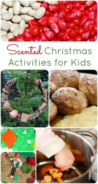 Explore the scents of holidays with these fun scented Christmas activities and recipes for kids.