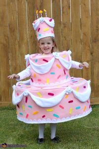 Christy: My daughter is wearing the costume, and the idea came from her. The under structure is made of cardboard and posterboard and the outer layer is felt an
