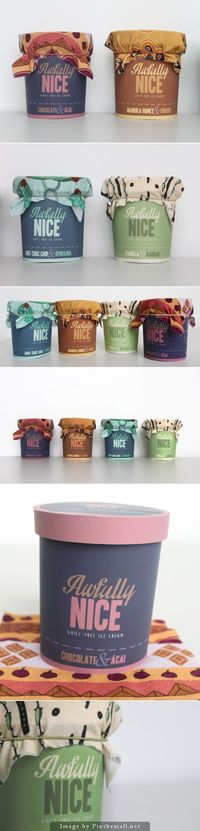 Awfully Nice Ice Cream by Calum Middleton.postcurated by SFields99 #packaging