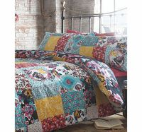 Bhs Olivia patch printed bedding set, multi 1886509530 With its deep navy ground, a burst of pink and white flowers and paisley prints, awaken this patchwork printed bedding set. A unique vintage design from our Vintage Maison range that inspires and adds...