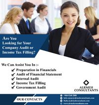 Income Tax Filling or Company Audit.jpeg For further info please contact us  +968 9240 2888
