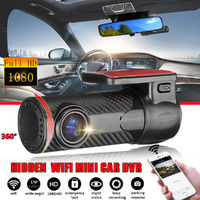 Mini 1080P FHD Carbon Grain Car WiFi DVR Dash Cam Rear Camera Video Loop Recording APP
