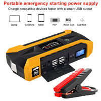 89800mAH Automobile Emergency Mobile Power Bank Supply Portable Car Charger USB Port