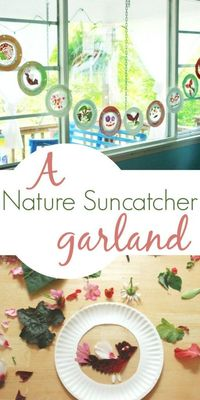 The Perfect Flower Suncatcher Craft for Kids - plus make a beautiful garland out of the suncatchers!